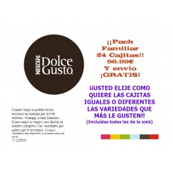 PACK FAMILIAR DOLCE GUSTO 24 CAJITAS